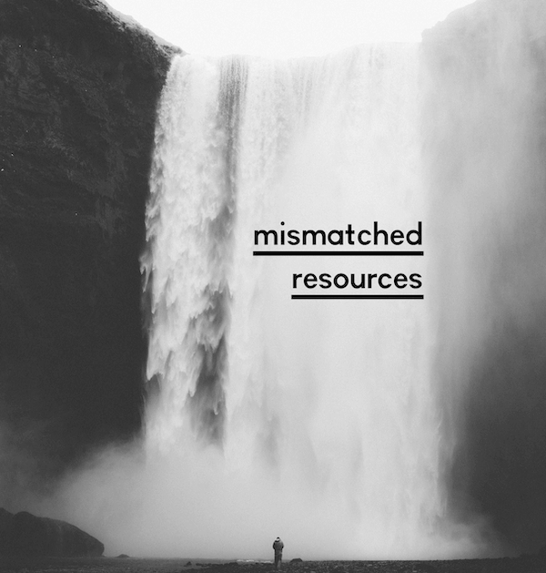 A mismatch of resources?
